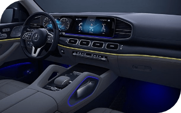 Large digital displays in new Mercedes-Benz GLS