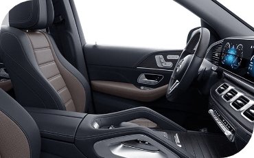 Side view of 2021 Mercedes-Benz front seats