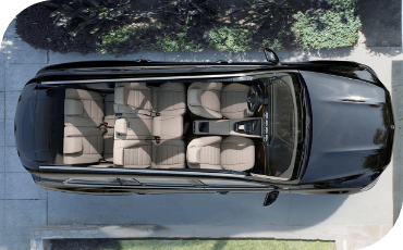 Fit up to seven people comfortably in the GLS