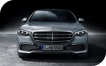 Front view of all-new 2021 Mercedes-Benz
