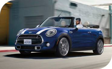 The standard Active Driving Assistant protects you during your drive in a new 2021 MINI Convertible
