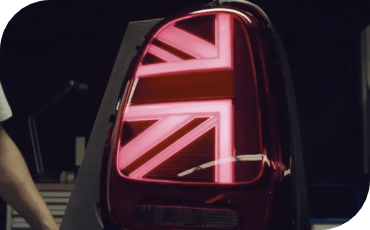 Available LED Union Jack taillights are an homage to the British origins of the MINI