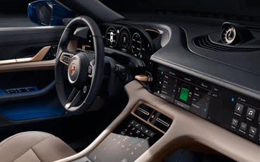 Physical buttons have been almost entirely replaced by touchscreens inside the 2020 Porsche Taycan