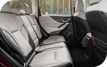 A view of the rear row of seating in the 2019 Subaru Forester.