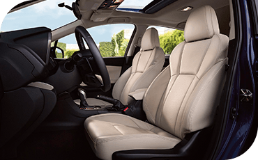 The seats of this Impreza are trimmed in genuine leather for an upscale look and feel.