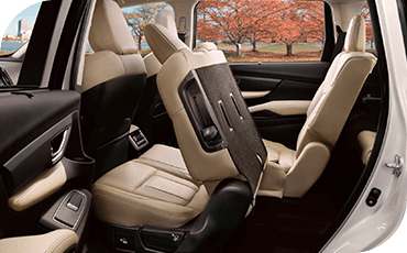 The folding rear seats of the 2020 Subaru Ascent can be stowed to make extra room for cargo