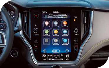 An 11.6-inch touchscreen in a 2020 Subaru Outback.