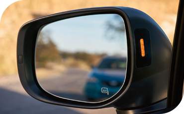 Warning lights in the mirror of the 2021 Subaru Outback can indicate traffic lurking in your blind spot