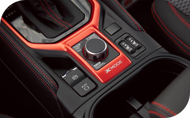Surrounded by stylish orange metallic trim, the X-MODE® dial lets you dial in the performance you need from the all-wheel drive system