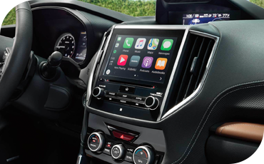 The interior touchscreen can even mirror select apps from your iPhone or Android device