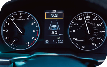 The new Subaru Outback features a driver information display with driver assistance feedback and other important information