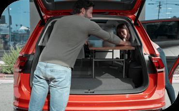 Compare new 2019 Volkswagen Tiguan vs Toyota RAV4 Interior Styling
