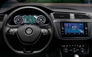 Compare new 2019 Volkswagen Tiguan vs Toyota RAV4 Technology Benefits