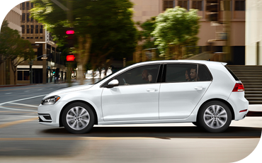 The VW Golf keeps you safe both in the city and on the highway