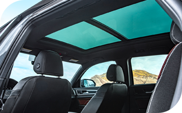 2020 VW Atlas Cross Sport interior with moonroof