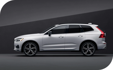 Side profile of white Volvo XC60
