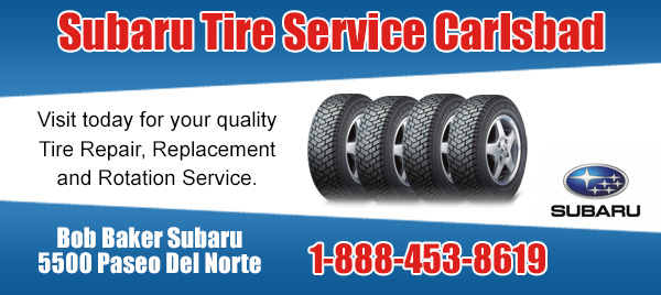 Subaru Tire Care Service Carlsbad, California