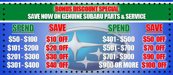 Subaru parts for you coupons