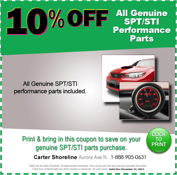 Genuine Spt And Sti Performance Parts Special Seattle