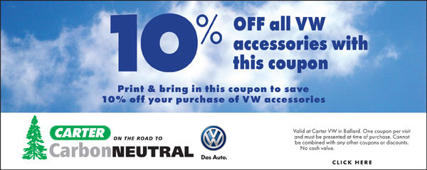 Carter Volkswagen Accessories Special Seattle