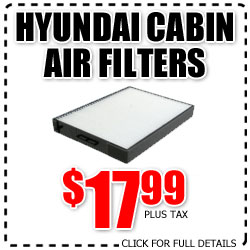 hyundai, cabin filter, special, discount filters, national city, california