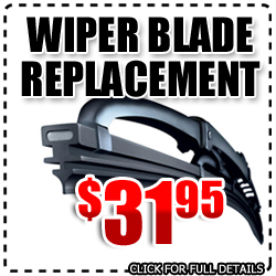 Hyundai Front Wiper Blade Replacement Service Special, Car Maintenance Discount Coupon in San Diego, California