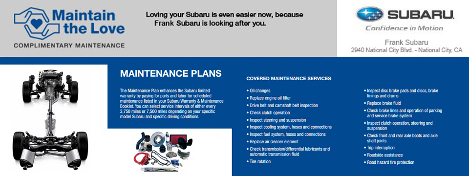 2014 subaru forester warranty and maintenance booklet