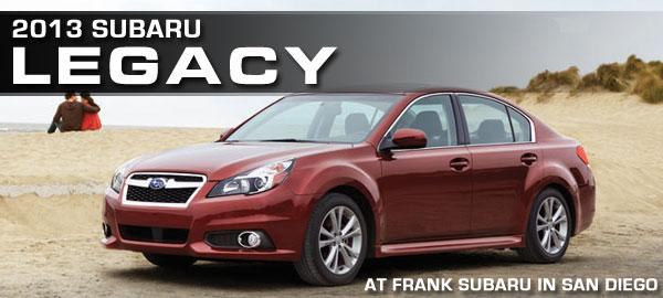 New 2013 Subaru Legacy Sedan Specifications San Diego Car Information
