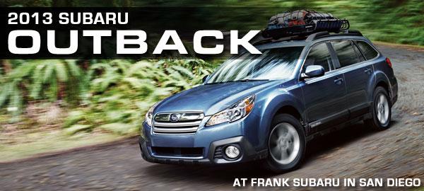 New 2013 Subaru Outback Wagon Specifications San Diego Car Information