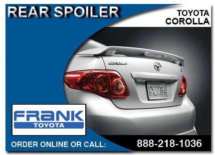 Toyota Corolla Accessories >> Genuine Toyota Corolla Accessories Auto Parts San Diego County