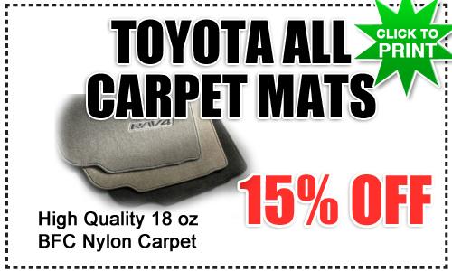 Genuine toyota carpet floor mats special san diego for National motors san diego