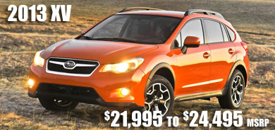 2013 Subaru XV arriving this fall at Subaru Pacific, Hermosa Beach, Los Angeles, Torrance, Long Beach, Santa Monica, California