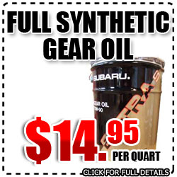Subaru Extra-S Full Synthetic Gear Oil Parts Special serving Glendale, California