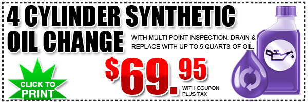 Subaru 4 Cylinder Synthetic Oil Change Service Special Subaru Of