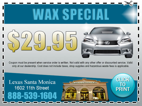 Wax Service Special Los Angeles