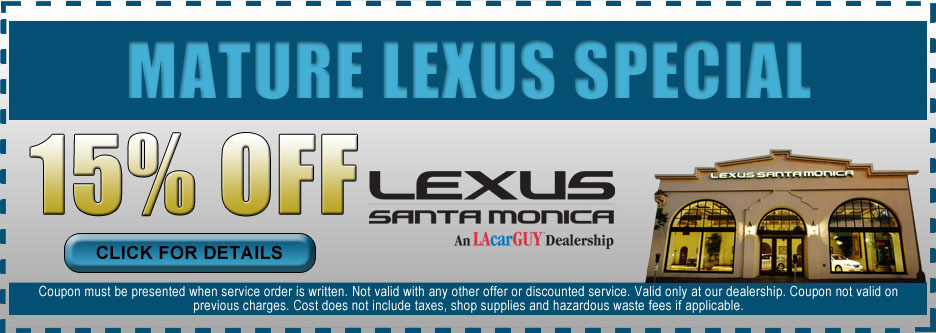 Mature Lexus Service Special Los Angeles