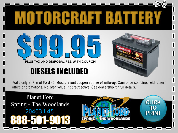 Planet Ford 45 Motorcraft Battery Replacement Houston