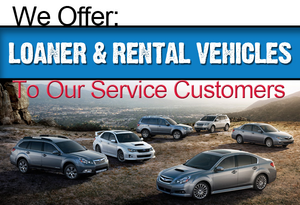 Subaru Pacific offers loaner and rental vehicles to service customers