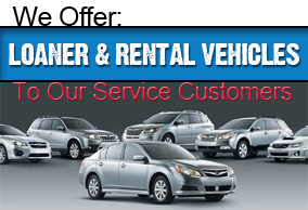 We offer loaner and rental vehicles to our service customers