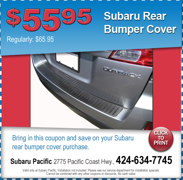 Subaru Rear Bumper Cover Torrance California