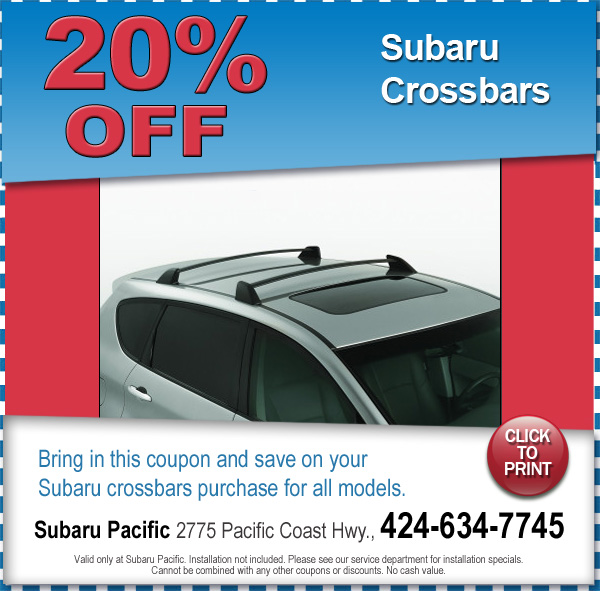 Subaru Crossbars Torrance California