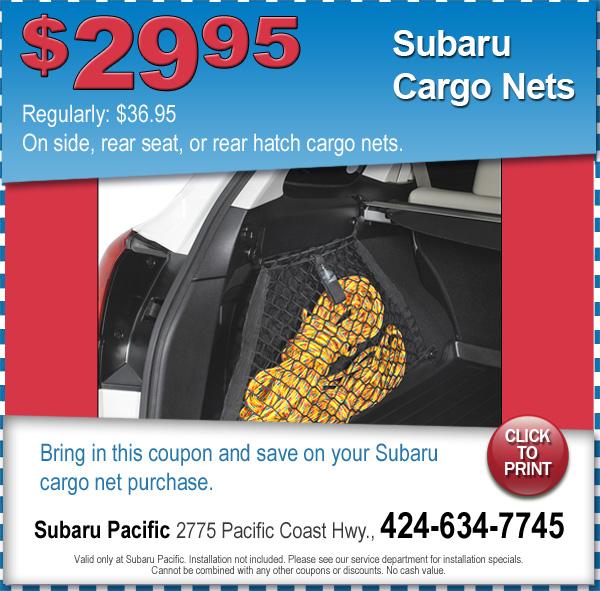 Subaru Cargo Nets Torrance California