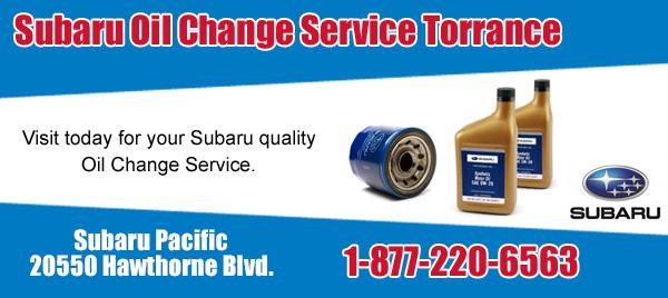 Oil Change Service Torrance Subaru Pacific