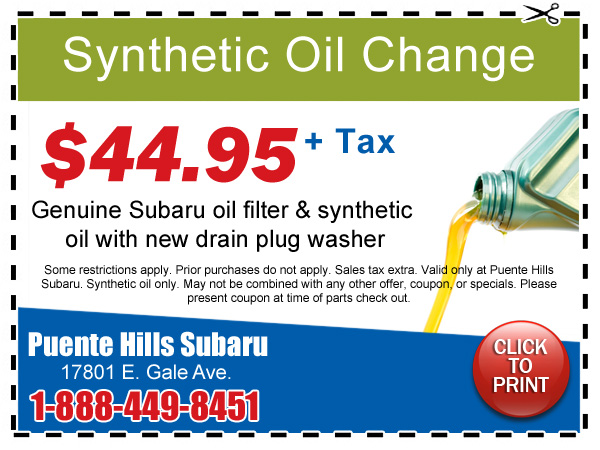 Synthetic Oil Change Coupons >> Synthetic Oil And Filter Change Special Los Angeles