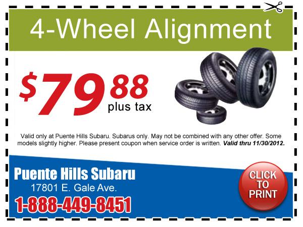 Discount wheel alignment coupon