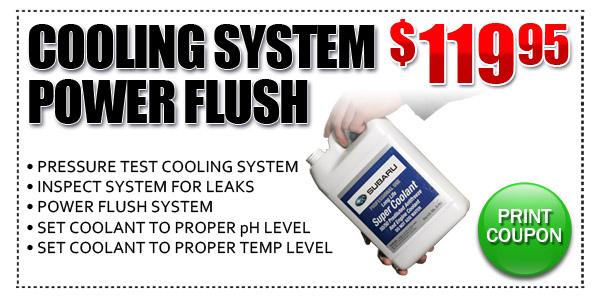 Coolant Flush Cost >> Cooling System Power Flush Ocean Subaru Of Fullerton