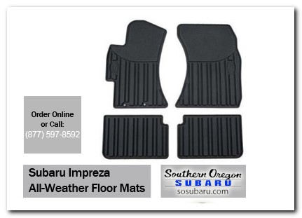 Medford, subaru, all weather floor mats, impreza, accessories, parts, specials