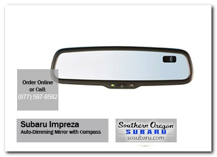 Medford, subaru, auto-dimming mirror, compass, impreza, accessories, parts, specials