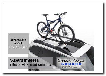 Medford, subaru, bike carrier, roof mounted, impreza, accessories, parts, specials
