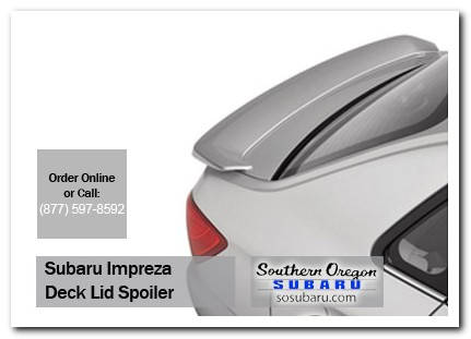Medford, subaru, rear, deck lid, spoiler, impreza, accessories, parts, specials